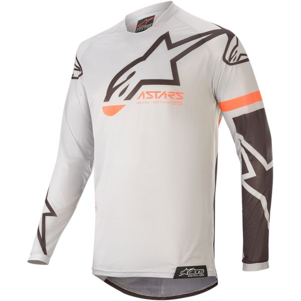 Tricouri MX-Enduro Alpinestars Tricou Racer Tech Compass S20 Gray/Black