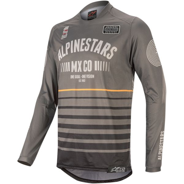 Tricouri MX-Enduro Alpinestars Tricou Racer Tech Flagship S20 Gray/Black/Orange