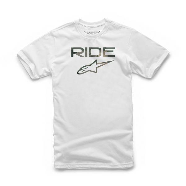 Tricouri/Camasi Casual Alpinestars Tricou Ride 2.0 Camo Wht