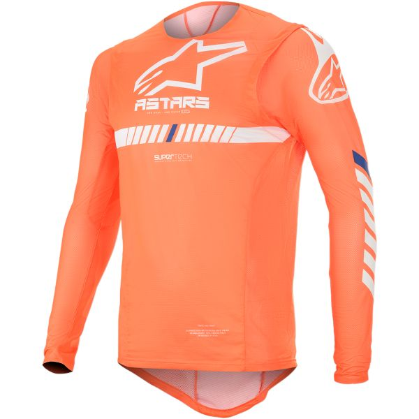 Tricouri MX-Enduro Alpinestars Tricou Supertech S20 Orange/White/Blue