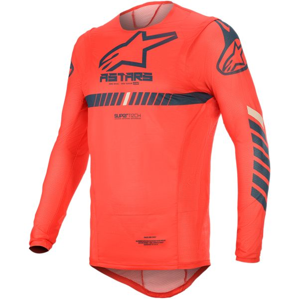 Tricouri MX-Enduro Alpinestars Tricou Supertech S20 Red/Navy/White