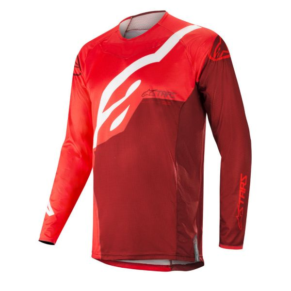 Tricouri MX-Enduro Alpinestars Tricou Techstar Factory Red/Burgundy S9
