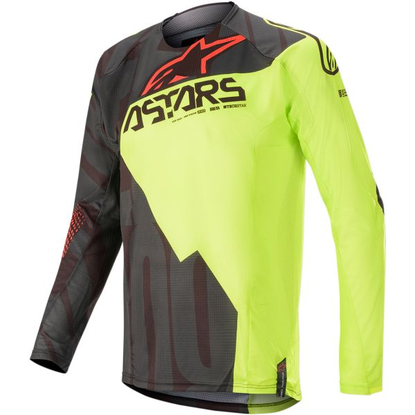Tricouri MX-Enduro Alpinestars Tricou Techstar Factory S20 Black/Yellow