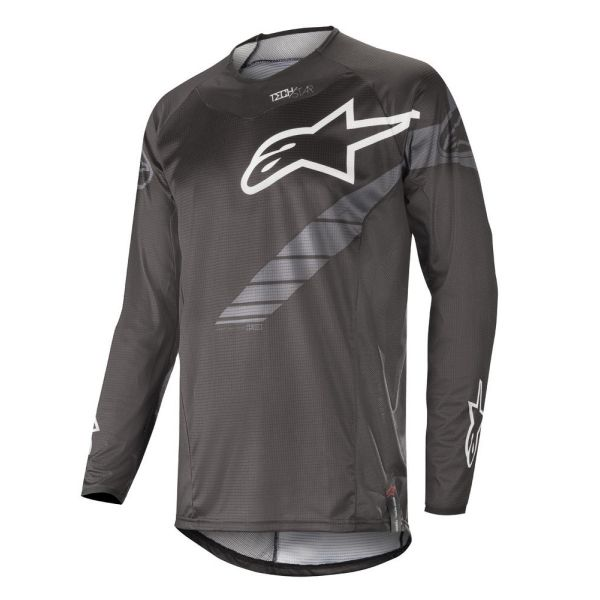 Tricouri MX-Enduro Alpinestars Tricou Techstar Graphite Black/Anthracite S9