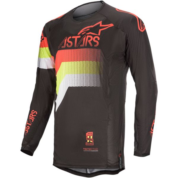 Tricouri MX-Enduro Alpinestars Tricou Techstar Venom S20 Black/Red/Yellow