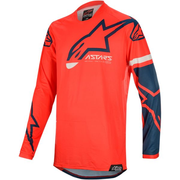 Tricouri MX-Enduro Alpinestars Tricoul Racer Tech Compass S20 Red/Navy
