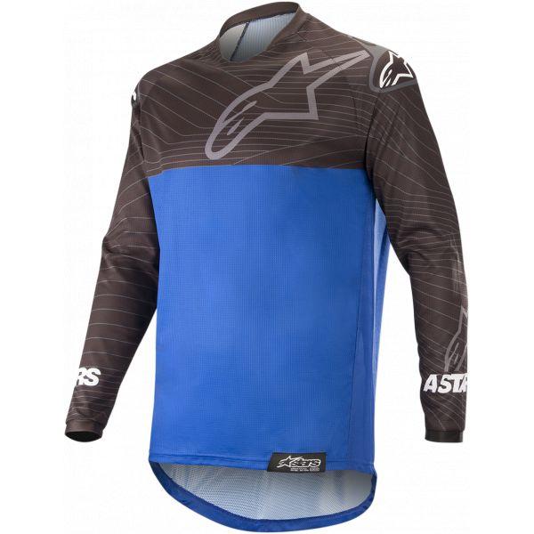 Tricouri MX-Enduro Alpinestars Venture R Offroad Jersey Black/Blue 2021