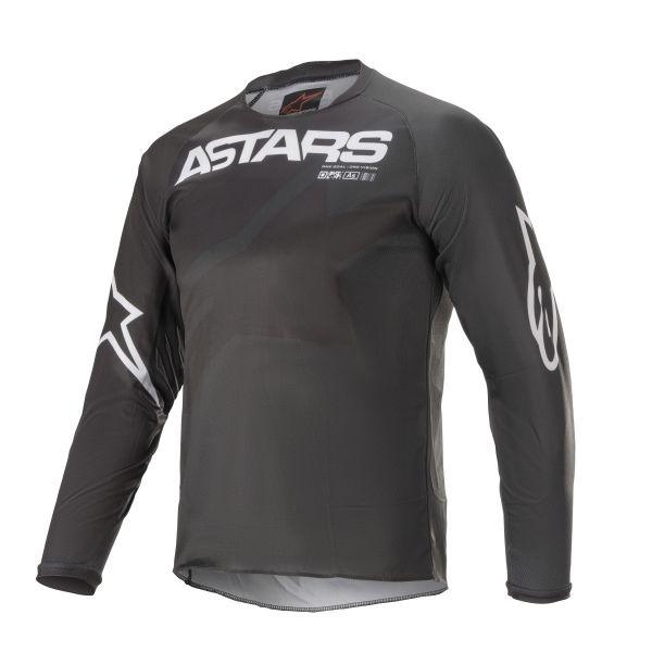 Tricouri MX-Enduro Copii Alpinestars Youth Racer Braap MX Jersey Black/White 2021