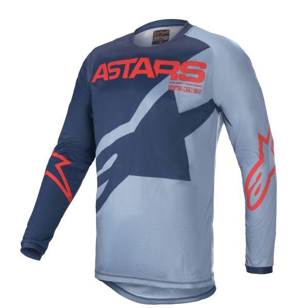 Tricouri MX-Enduro Copii Alpinestars Youth Racer Braap MX Jersey Blue/Red 2021