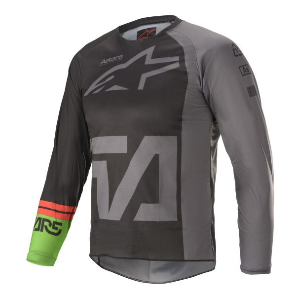 Tricouri MX-Enduro Copii Alpinestars Youth Racer Compass MX Jersey Multicolor/Grey 2021