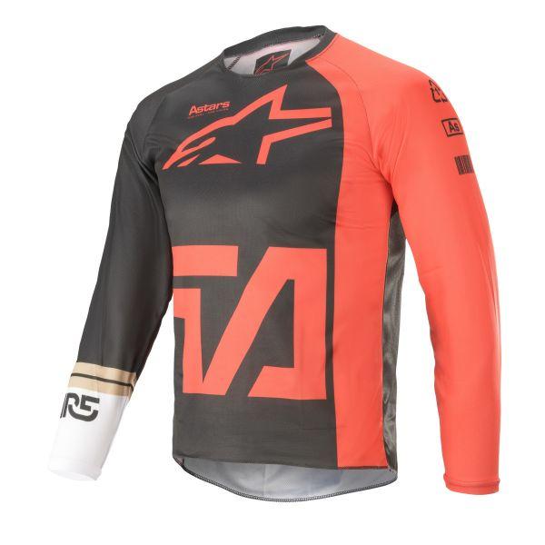 Tricouri MX-Enduro Copii Alpinestars Youth Racer Compass MX Jersey Multicolor/Red 2021