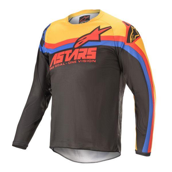 Tricouri MX-Enduro Copii Alpinestars Youth Racer Venom Black/Red/Orange 2021