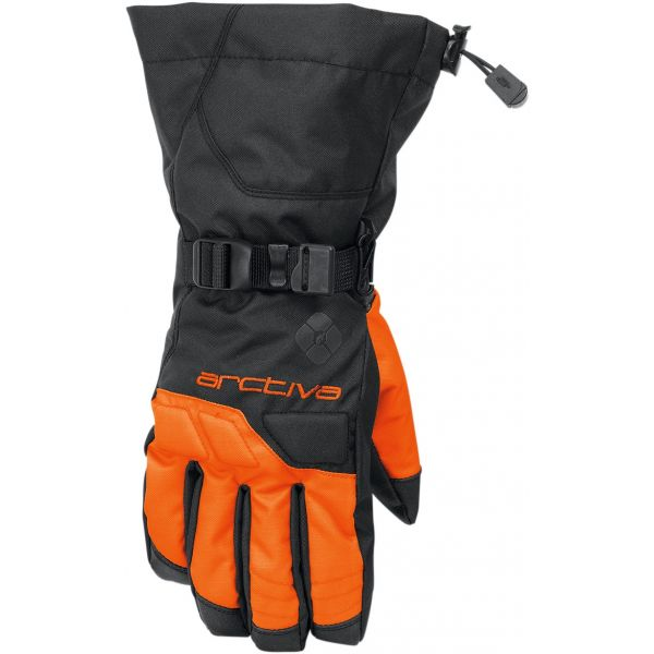 Manusi Snowmobil Arctiva Manusi Insulated Snow Pivot Black/Orange
