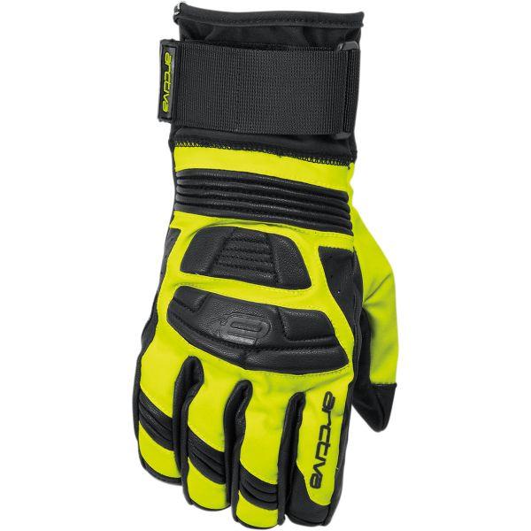 Manusi Snowmobil Arctiva Manusi Rove S8 Short Gloves Black/Hi-Viz Yellow