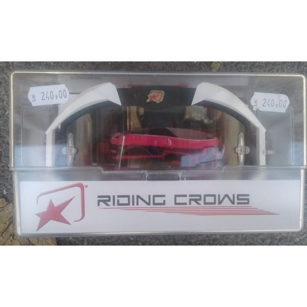 Ochelari cross-enduro Ariete LICHIDARE STOC Ochelari Riding Crows Black/White  13950-NBL
