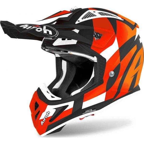 Casti MX-Enduro Airoh Casca Moto MX Aviator Ace Trick Orange Matt 2020
