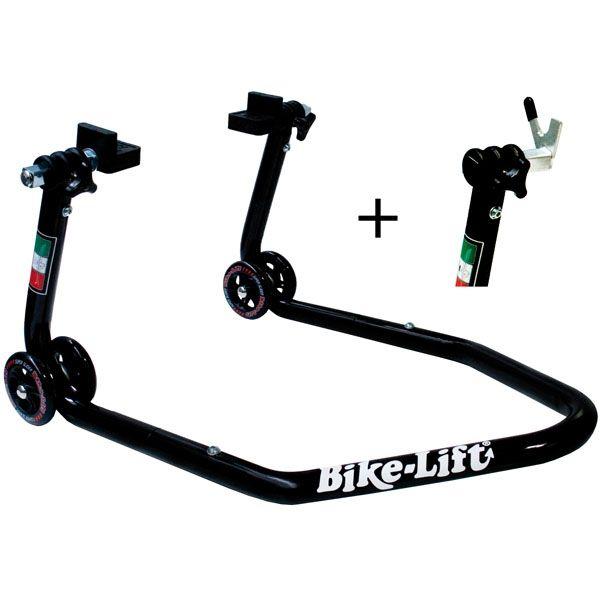 Stander On Road Bikelift STANDER SPATE CU FURCI SI CU PADELE (2 SETURI) - DEMONTABIL - NEGRU
