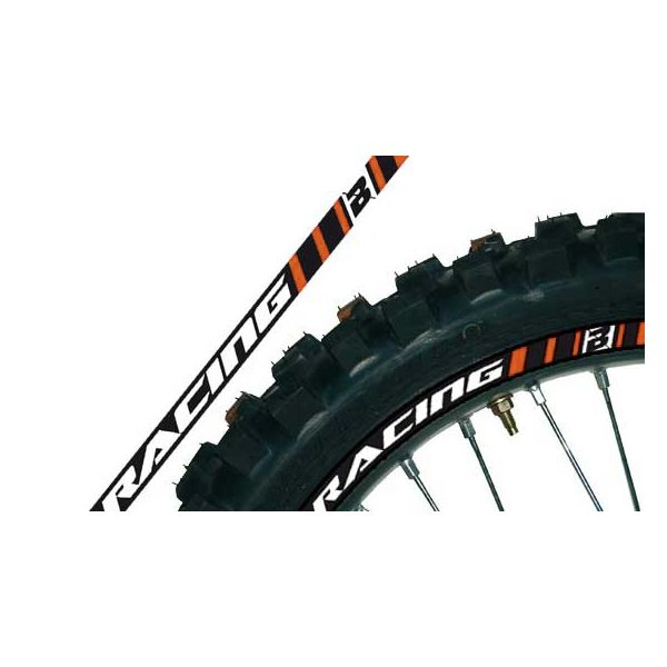 Graphics Blackbird Rim Stickers Orange