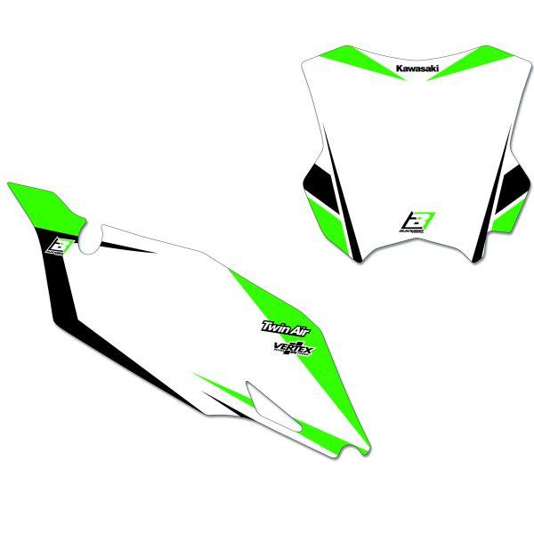 Grafice Moto Blackbird Kit Grafica Baza Numere Concurs Kawasaki KXF450 19 6412n