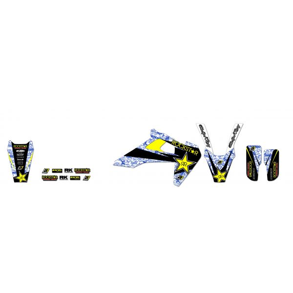 Grafice Moto Blackbird Kit Grafica Rockstar 2615l Husqvarna TC/TE/FC/FE 19-21'
