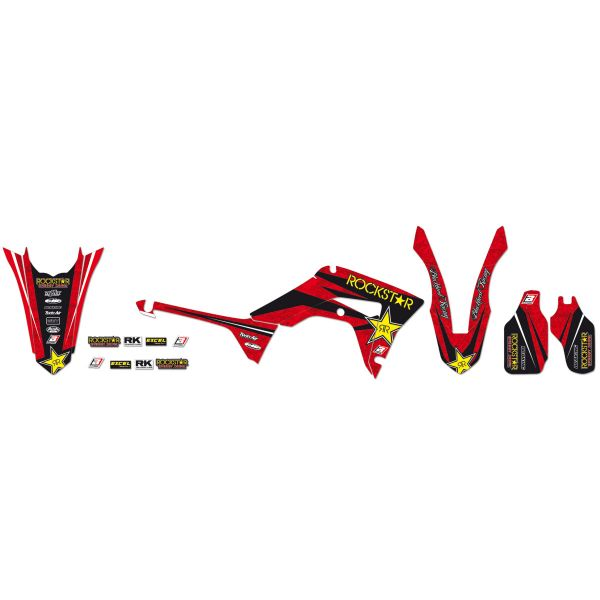 Graphics Blackbird ROCKSTAR ENERGY GRAPHIC KIT RED/BLACK/YELLOW 2145L