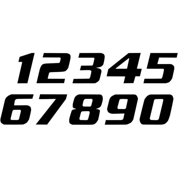 Grafice Moto Blackbird Numar Concurs Cifra 0 Adhesive 3 Pack Black 5049/20/0