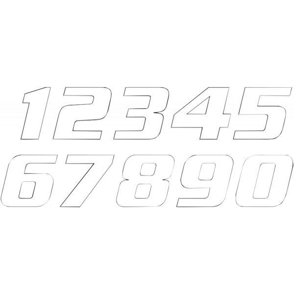 Grafice Moto Blackbird Numar Concurs Cifra 1 Adhesive 3 Pack White 5049/10/1