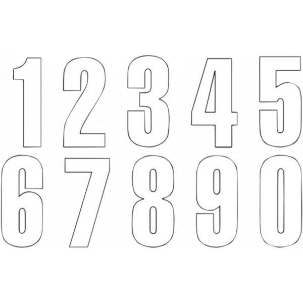 Grafice Moto Blackbird Numar Concurs Cifra 5 Adhesive 3 Pack White 5047/10/5
