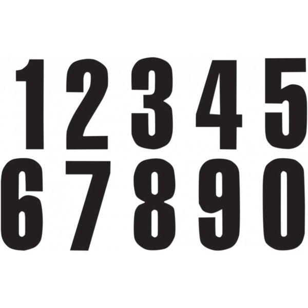 Grafice Moto Blackbird Numar Concurs Cifra 6 Adhesive 3 Pack Black 5047/20/6