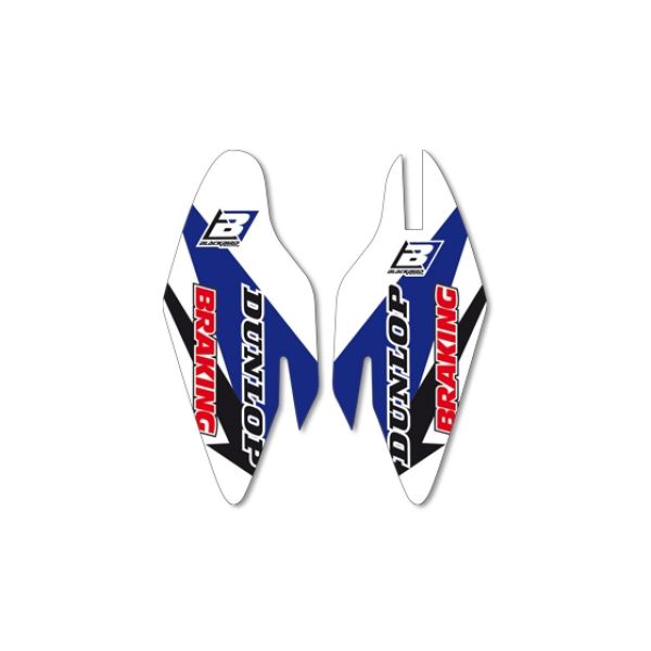 Graphics Blackbird FORK GUARD STICKERS WHITE/BLUE/BLACK 5234