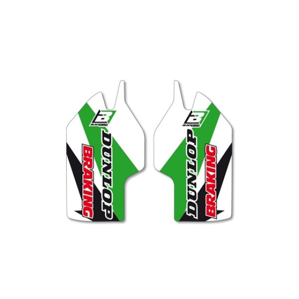 Graphics Blackbird FORK GUARD STICKERS WHITE/GREEN/BLACK 5425