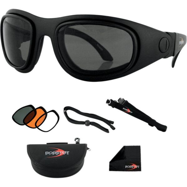 Ochelari Chopper Bobster Ochealari Sport&Street 2 Convertible Black Lenses Interchangeable