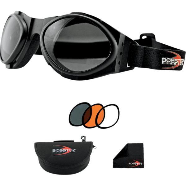 Ochelari Chopper Bobster Ochealri Bugye 2 Extreme Sport Black Lenses Interchangeable