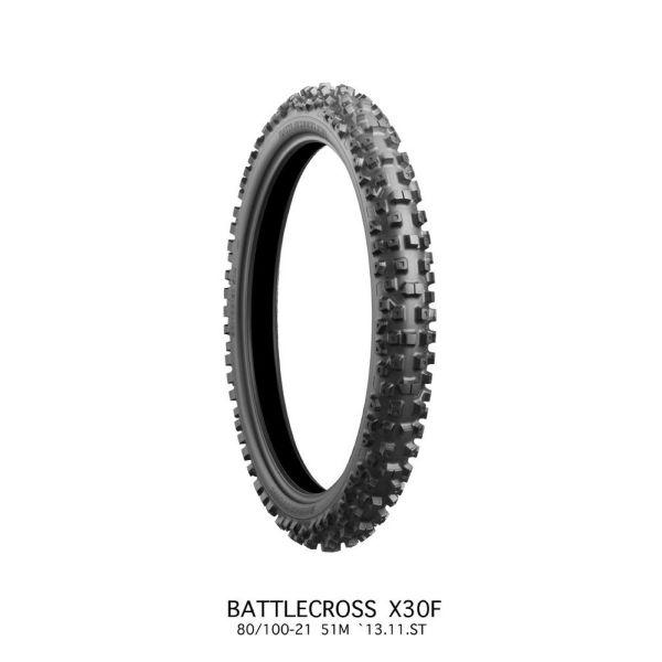 Anvelope MX-Enduro Bridgestone ANVELOPA BATTLECROSS X30 MEDIUM FRONT 90/100 - 21 57M TT NHS