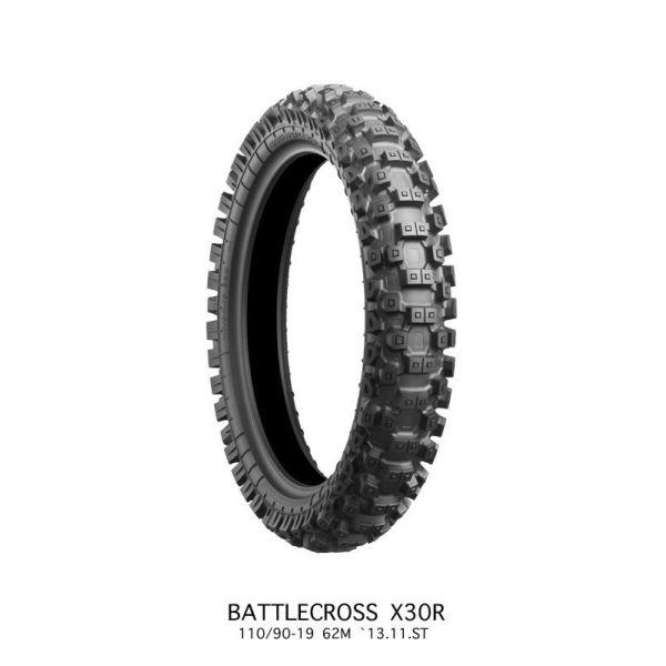Anvelope MX-Enduro Bridgestone ANVELOPA BATTLECROSS X30 MEDIUM REAR 110/90 - 19 62M TT NHS
