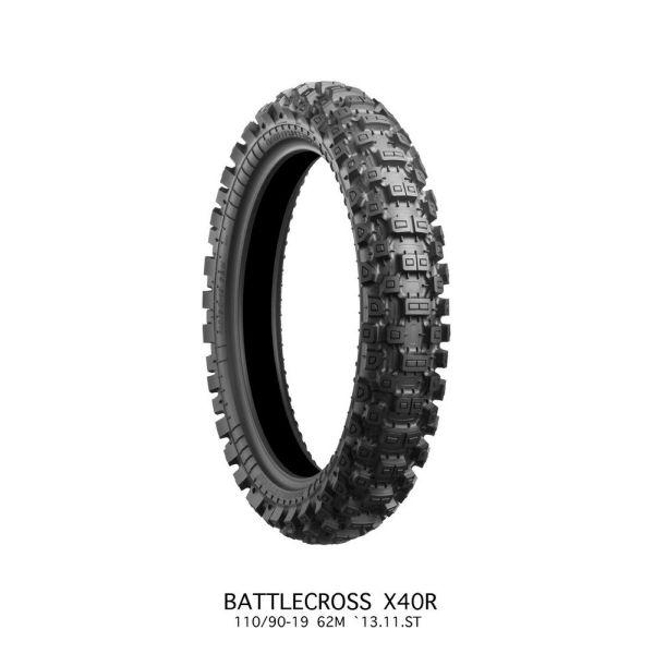 Anvelope MX-Enduro Bridgestone ANVELOPA BATTLECROSS X40 HARD REAR 110/90 - 19 62M TT NHS
