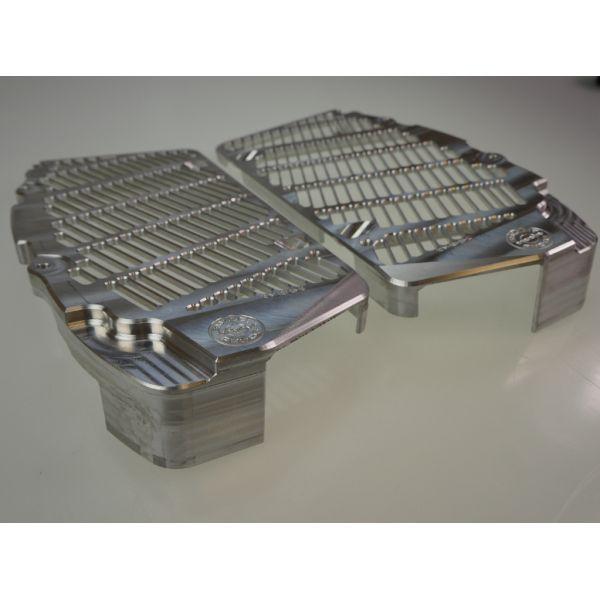 Bullet Proof Designs Protectie Radiator Aluminiu KTM/Husqvarna 17-20 Argintie