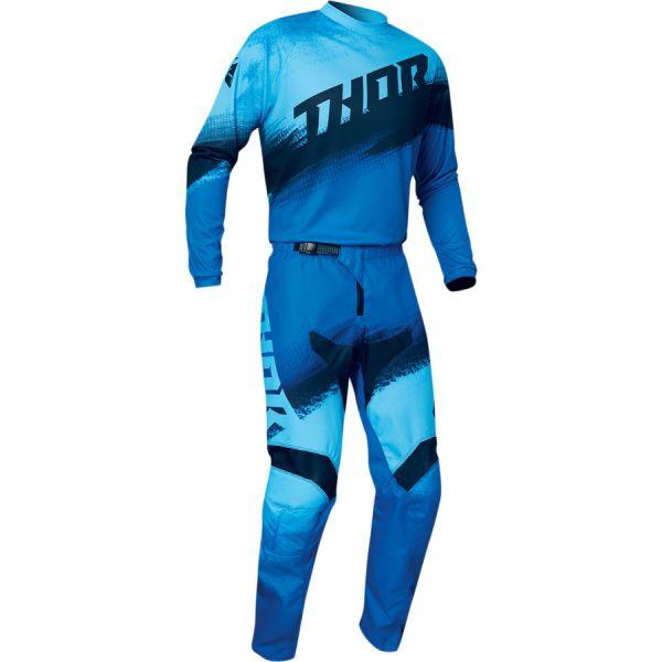 Thor Combo Tricou + Pantaloni Sector Vapor Multicolor Albastru 2020