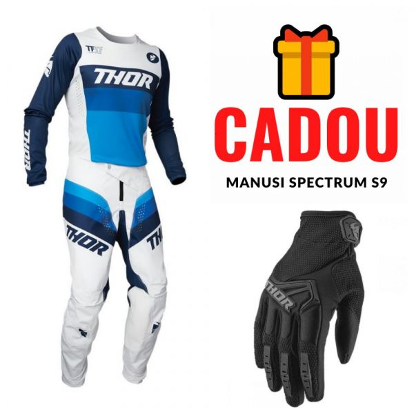 Combos MX-Enduro Thor Combo Jersey + Pants Pulse Racer White/Blue 2021