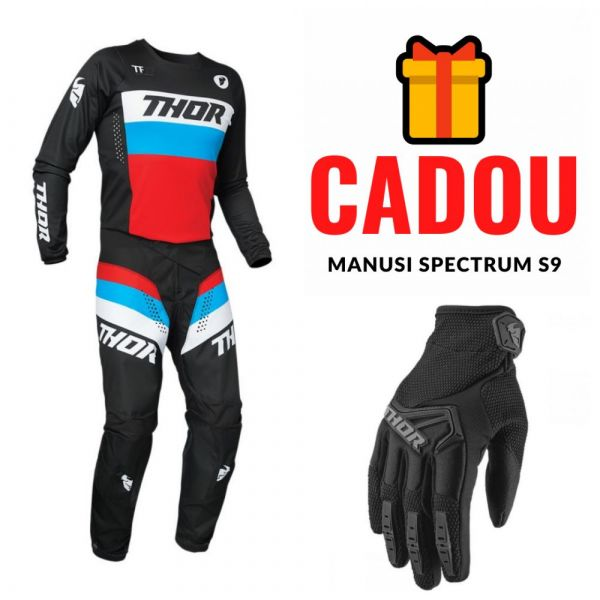 Combos MX-Enduro Thor Combo Jersey + Pants Pulse Racer Multicolor Red 2021