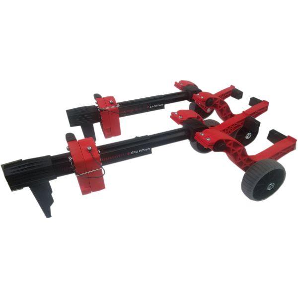 Accesorii Snowmobil Caliber Sistem Roti Skiuri Snowmobil Sled Wheels Red