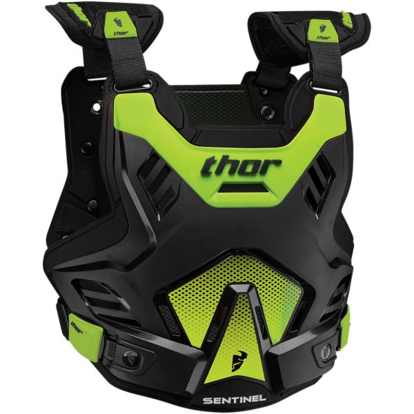 Protectii Piept-Spate Thor Protectie Sentinel GP S17 Deflector Black/Green Fluo