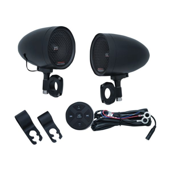 Accesorii Electrice Bord Kuryakyn Boxe Audio Negre Ghidon Moto Road Thunder Pods & Bluetooth Audio Controller by MTX