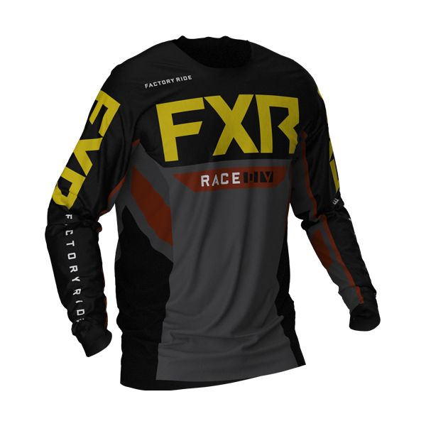 Tricouri MX-Enduro FXR Tricou MX Podium Off RoadBlack/Char/Rust/Gold 2021