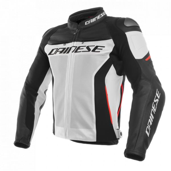 Echipamente DAINESE Dainese Geaca Piele Racing 3 Perforated White/Black/Red 2020
