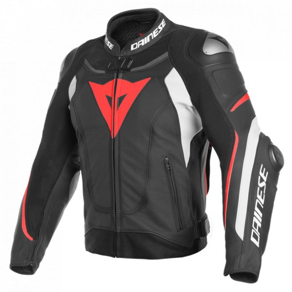 Echipamente DAINESE Dainese Geaca Piele Super Speed 3 Perforated Black/White/Fluo-Red 2020