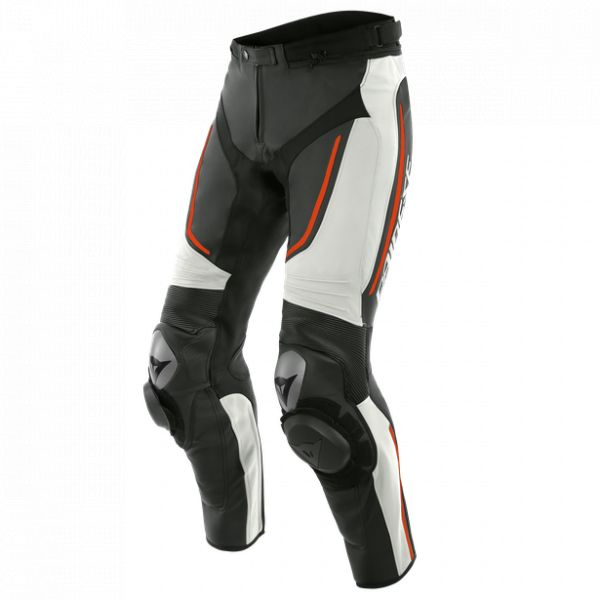 Echipamente DAINESE Dainese Pantaloni Piele Alpha White/Black/Fluo-Red 2020