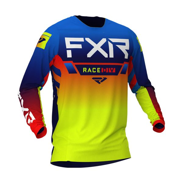 Tricouri MX-Enduro FXR Tricou MX Helium Blue/Hi Vis/Red 2021