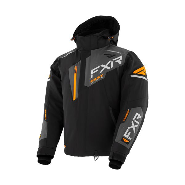 Geci Snowmobil FXR Geaca Snow Insulated Renegade FX Black/Char/Orange 2021