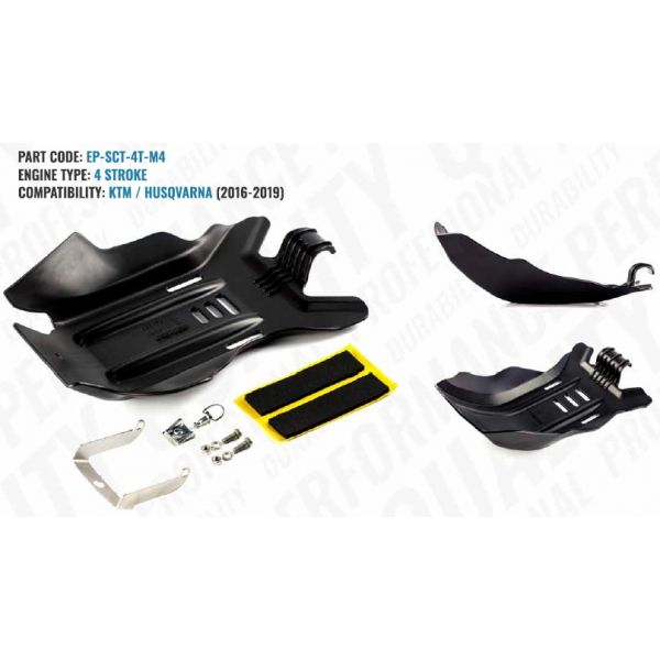 Scuturi moto Extreme Parts Scut Protectie Motor 4 Timpi KTM/Husqvarna 2016-2019 Negru